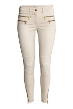 Skinny Low Biker Jeans - Light beige - Ladies | H&M CN 2